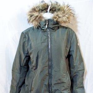 POSTCARD ITALY Nylon Genuine Fur Jacket Coat Hood